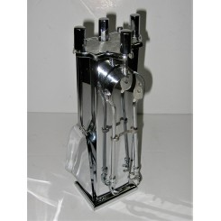 Art Deco Chrome Fireside Companion Set