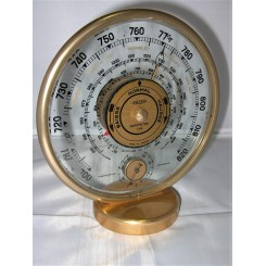 Jaeger Desk Barometer And Thermometer