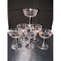 Set Of 6 High Quality French Champagne Coupes