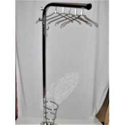 Very Heavy Quality Chrome Modernist Coat And Umbrella Stand