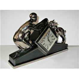 Art Deco Ceramic Mantle Alarm Clock By Odyv