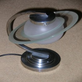 Modernist saturn ring table lamp
