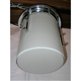 Modernist and Deco white cylinder ceiling light