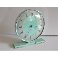 8 Day Smiths Chrome Clock With Green Bakelite