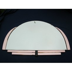 Panorama Format Mirror With Pink Black Mirror Decoration