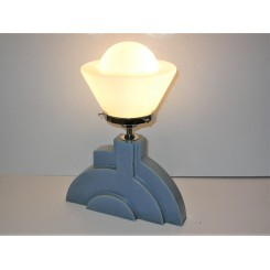 Modernist Blue Pottery Table Lamp