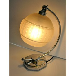 Art Deco English Octagonal Based C Shaped Table Lamp