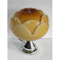 Unusual Large Yellow Flower Table Lamp