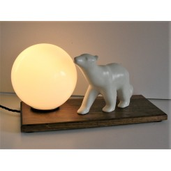 white ceramic Modernist polar bear