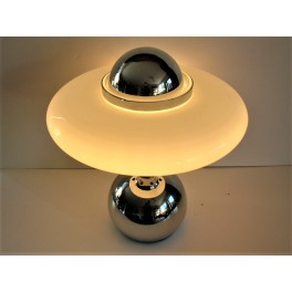 Mid Century Modern flying saucer table lamp