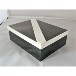 Black And White Deco Box For Playing Cards