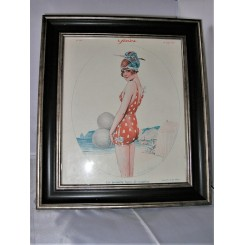 Bathing Beauty Original Deco Print By Maurice Milliere
