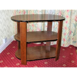 Solid Mahogany Art Deco 3 Tier Occasional Table