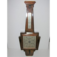 Art Deco Military Wall Barometer Thermometer