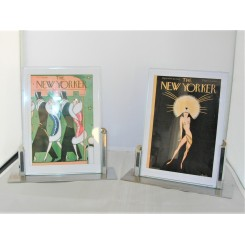 Pair Of Asymmetric Chrome Photo Frames