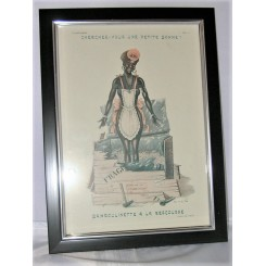 Original Deco Print Maid From Martinique By Dals