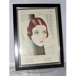 Original Deco Print Of Marguerite Jamois By Paul Colin