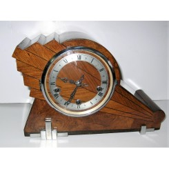 Rare English wooden Asymmetric mantle clock
