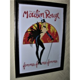 Mid 1950s Moulin Rouge poster