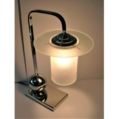 Unusual Mid Century Modern Table Lamp With Saturn Ring