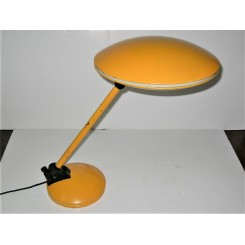 Mid Century Modern Yellow Spaceship Table Lamp