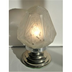 Enormous Art Deco Cone Shaped Table Lamp