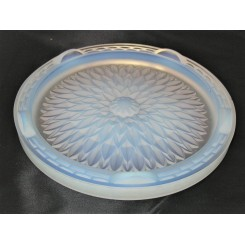 French Art Deco Opalescent Glass Cake Stand