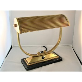 French Art Deco Brass Adjustable Table Lamp