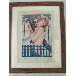 French Deco Original Print Forbidden Fruit By Zaliouk