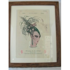 French Deco Original Print Spring Hat Fashion By Armand Vallee