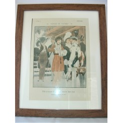 French Deco Original Print At The Races By Vincent