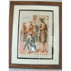 French Deco Original Print The Cake Shop By Armand Vallee