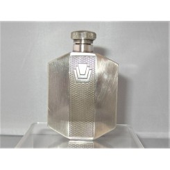 English Pewter Art Deco Ladys Hip Flask