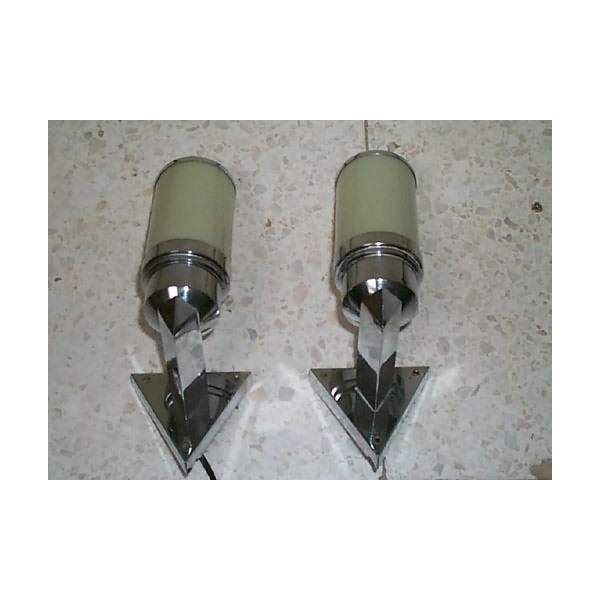 Pair of modernist triangular section wall lights ideal for a pair of modernist triangular section wall lights ideal for a bathroom mozeypictures Image collections