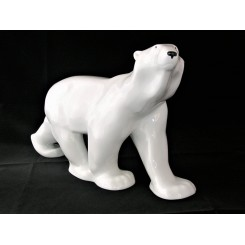 Large Russian Lomonosov Porcelain White Polar Bear