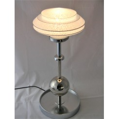 Large Chrome Mid Century Table Lamp