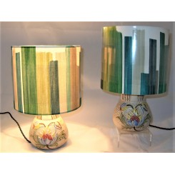 pair of H J Woods ceramic table lamps