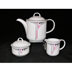 German Democratic republic Art Deco porcelain tea set