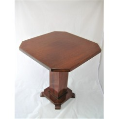 Art Deco solid mahogany occasional table