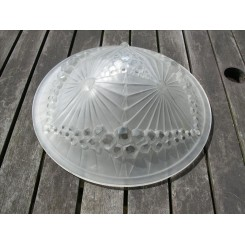 Good french clear & frosted geometric plafonnier