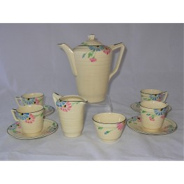 Crown Ducal Pottery Coffee Set 1933