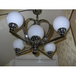 Superb french modernist chrome fixture