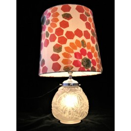 French Art Deco glass lamp by Carrillio