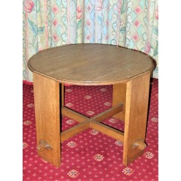 Art Deco solid wood coffee table
