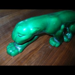 Outstanding green craquele stalking panther for primavera