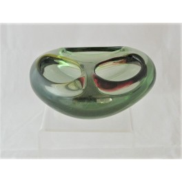 Murano Sommerso triple hole glass bowl
