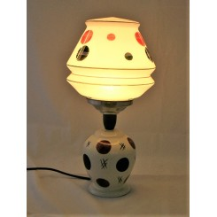 1970s pottery table lamp