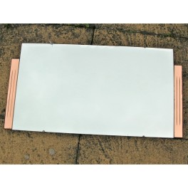 Art Deco Panorama Format Stepped Peach And Clear Mirror