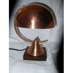 SUPERB COPPER & BRASS MODERNIST TABLE LAMP POSSIBLY BY DESNY