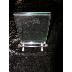 Hexagonal section Art Deco photo frame with glass